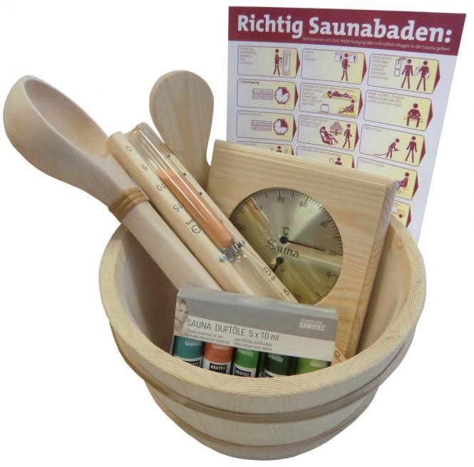 Der Saunakübel wird für den Sauna Aufguss benötigt