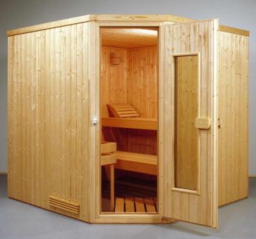 Elementsauna Classic 9 - 2,01 x 2,01 x 1,98 m - 5 Eck Sauna