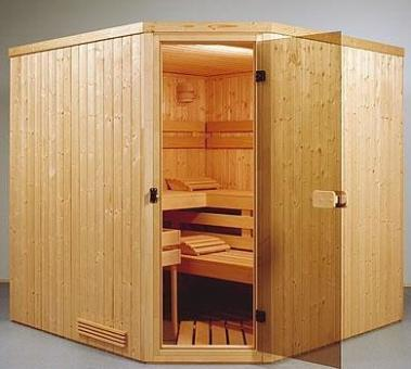 Exclusive element sauna 9 - 2.01 x 2.01 x 1.98 m - 5 corner