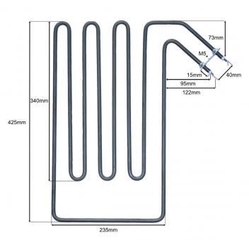 Heizstab passend für Sepc 96 - 3000 Watt Leistung