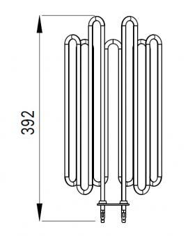 Heizstab für Harvia Saunaofen Globe ZVO-200 - 3500 Watt