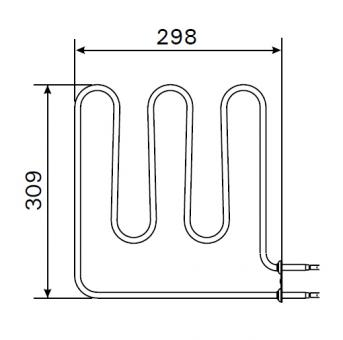 Heizstab für Harvia Saunaofen ZSB-224 / 1500 Watt
