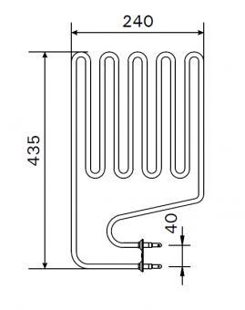 Heizstab ZSP 240 für Harvia Saunaofen 2150 Watt