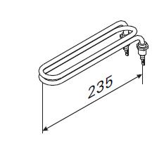 Heizstab ZH 104 für Harvia Saunaofen ZH 2000 W für Verdampfer