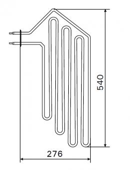 Heizstab für Harvia Saunaofen ZSF-50 / 3 000 Watt
