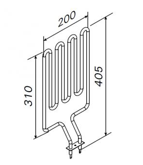 Heizstab für Harvia Saunaofen ZSN-160 / 1800 Watt
