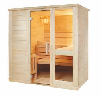 Massivholzsauna Pinetto Small 208 x 158 x 204 cm