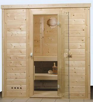 Solid wood sauna Ruby 1 - 1.97 x 1.36 x 2.05 m
