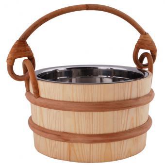 Saunakübel mit Edelstahleinsatz