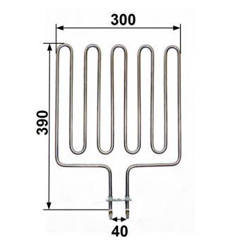 Heizstab passend für Sepc 64 Helo Knüllwald Saunaofen - 2000 Watt
