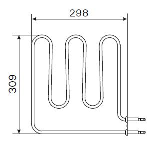 Heizstab Harvia Saunaofen ZSB-224 / 1500 Watt