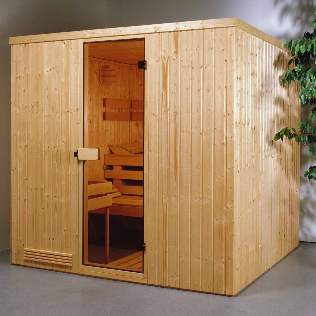 elementsauna exklusiv 1 2 01 x 1 39 x 1 98 m. Black Bedroom Furniture Sets. Home Design Ideas