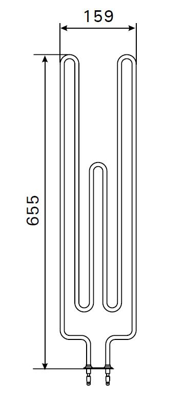 Heizstab für Harvia Saunaofen ZRH-720 - 2260 Watt