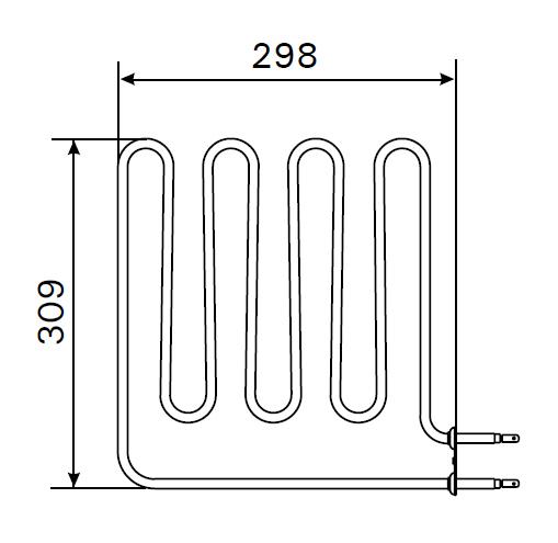 Heizstab ZSB 226 für Harvia Saunaofen 2000 Watt
