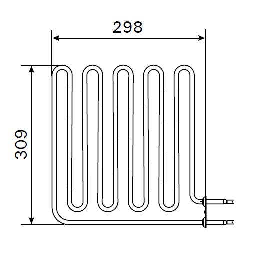 Heizstab ZSB 228 für Harvia Saunaofen 2670 Watt