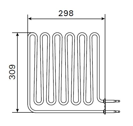 Heizstab ZSB 229 für Harvia Saunaofen 3000 Watt