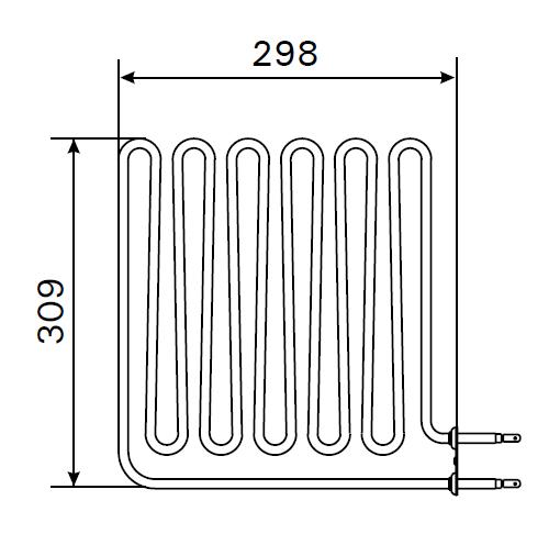 Heizstab ZSB-462 Harvia Saunaofen 2 750 Watt