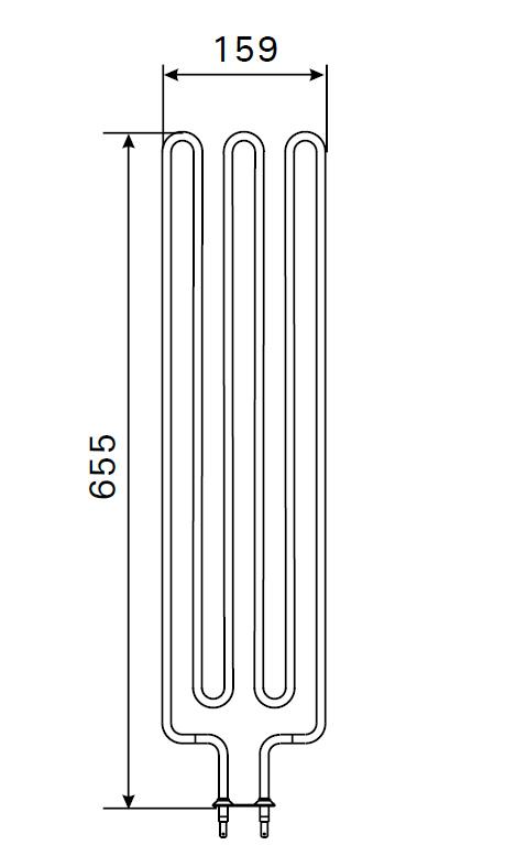 Heizstab für Harvia Saunaofen ZSE-259 - 3000 Watt
