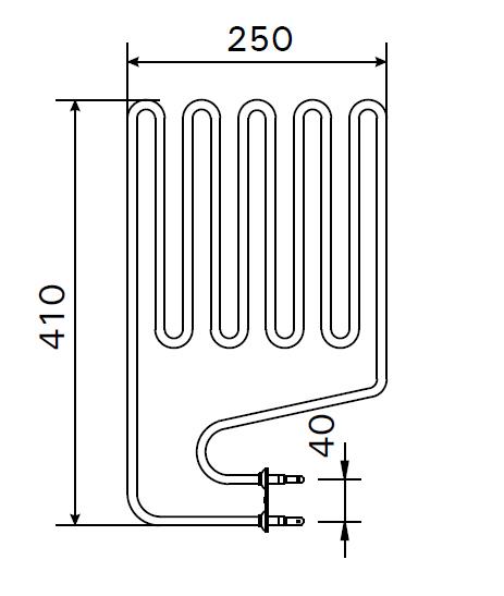 Heizstab ZSS 120 für Harvia Saunaofen 2000 Watt