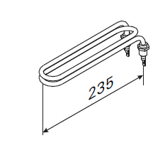 ersatzheizstab f r harvia saunaofen zh 104 2000 w f r verdampfer. Black Bedroom Furniture Sets. Home Design Ideas