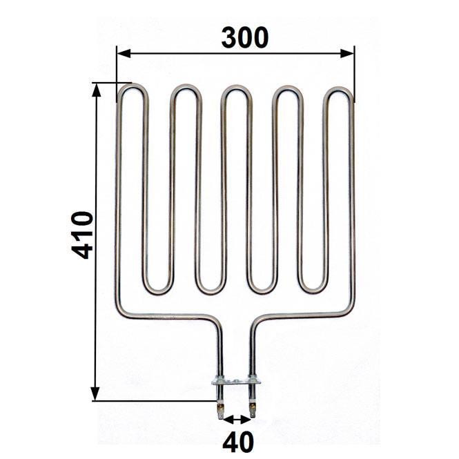Heizstab passend für Zsk 720 - 3000 Watt Harvia Saunaofen