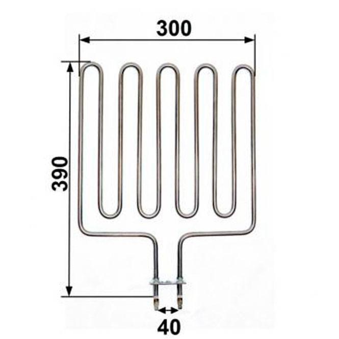 Heizstab passend für Kubic Saunaofen 2000 Watt