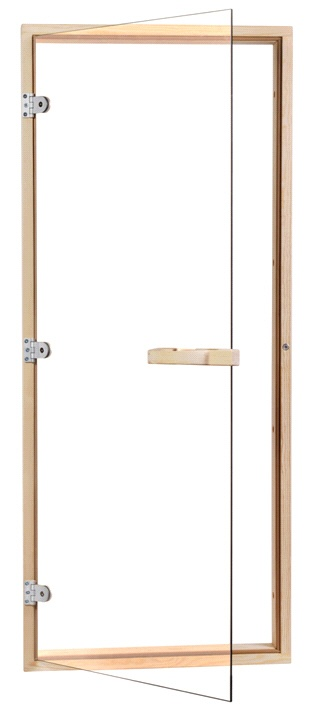 Saunatür 1 890 x 690 mm - 4 seitiger Rahmen - klarglas