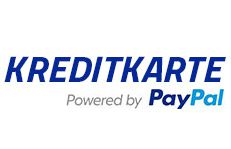 Kreditkarte powered by PayPal